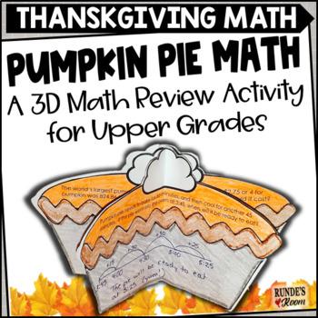 Word Problem Craftivity - Pumpkin Pie Problems