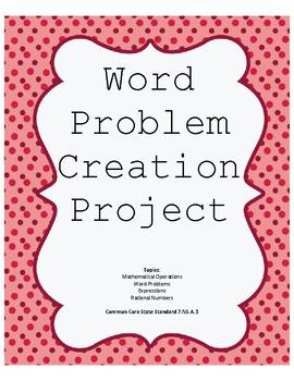Word Problem Creation Project