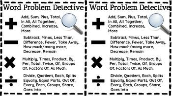 Word Problem Detective: Detecting Math Key Words