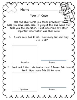 Word Problem Detectives Set 2 - Multiplication, Division and Multi-step Problems