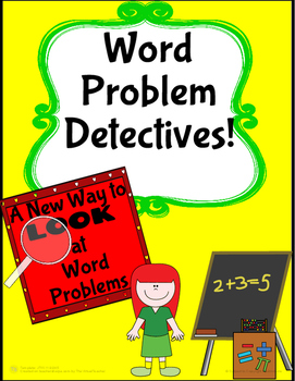 Word Problem Detectves! A Template to use for ANY Word Problem