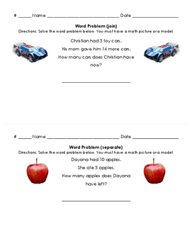 Word Problem Diagnostic Assessment