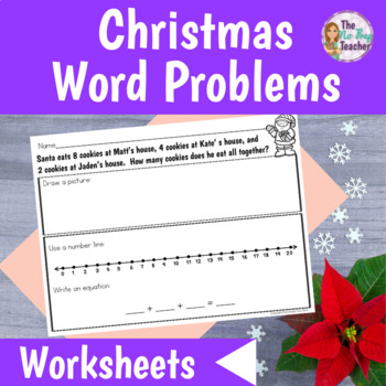 Word Problems Worksheets for Christmas