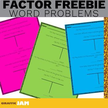 4.OA.4 Factors in Word Problems