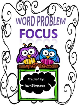 Word Problem Focus