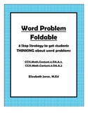 Word Problem Foldable