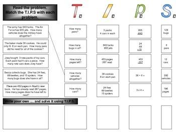 Word Problem Folder Center