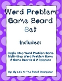 Word Problem Games - Single and Multi-Step Problem Solving - Common Core Aligned