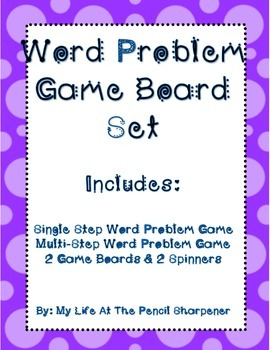 Word Problem Games - Single and Multi-Step Problem Solving
