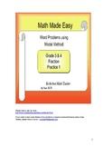 Word Problem Grade 3 & 4 Concept of Fraction - Model Method