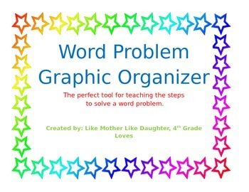Word Problem Graphic Organizer