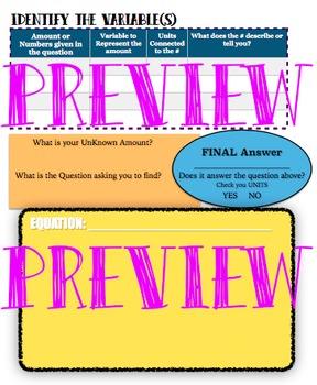 Word Problem : Graphic Organizer