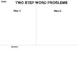 Word Problem Graphic Organizer