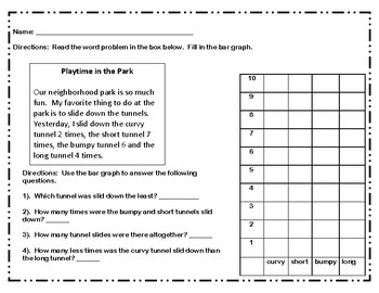 Word Problems Graphing with Questions