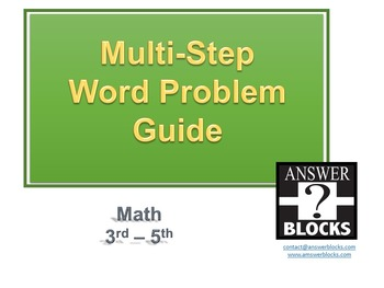 Word Problem Guide 3-5th VIDEO