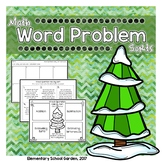 Word Problem Holiday Sort - Add, Subtract, Estimate Sums,