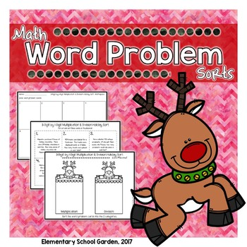 Word Problem Holiday Sort - Multiplication and Division
