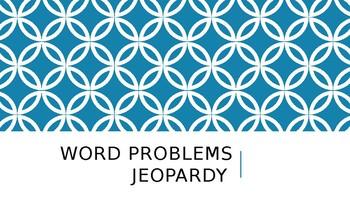 Word Problem Jeopardy Game!