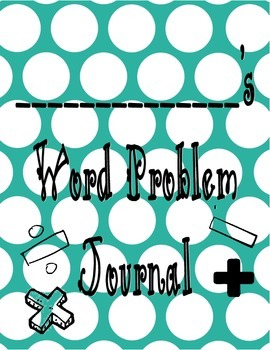 Word Problem Journal Cover