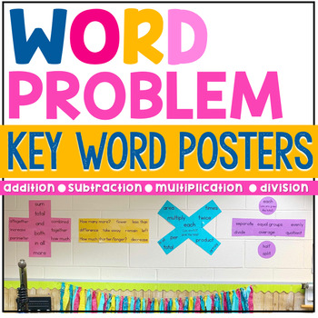 Word Problem Key Word Posters