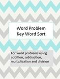 Word Problem Key Word Sort