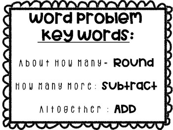 Word Problem Key Words