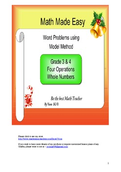 Word Problem Made Easy 2- Four Operations for Grade 3 & 4