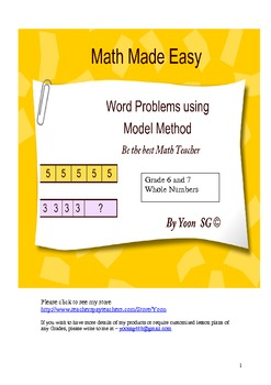Word Problem Made Easy (2) Model Method for Grade 6 & 7