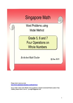Word Problem Made Easy - Model Method (Singapore Math)