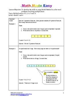 Word Problem Made Easy (Singapore) - Grade 3 &4 Multiplication