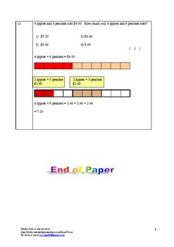 Word Problem Made Easy Worksheet - Decimals for Grade 4 and 5