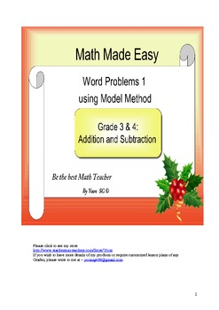 Word Problem Made Easy1 - Model Method for Grade 3 &4 Addition and Subtraction