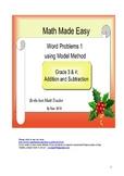 Word Problem Made Easy1 - Model Method for Grade 3 &4 Addi