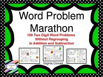 Word Problem Marathon--No Regrouping