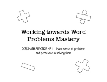 Word Problem PowerPoint - Locating Key Words