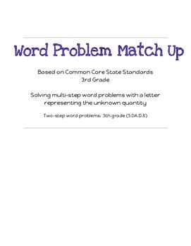 Word Problem Match Up