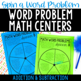 Word Problem Math Centers {Addition and Subtraction Word Problems}