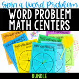 Word Problem Math Centers | Bundle