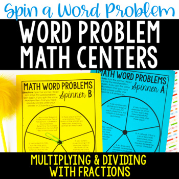 Word Problem Math Centers | Multiplying and Dividing Fractions Word Problems