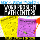 Word Problem Math Centers | Multiplication and Division Wo