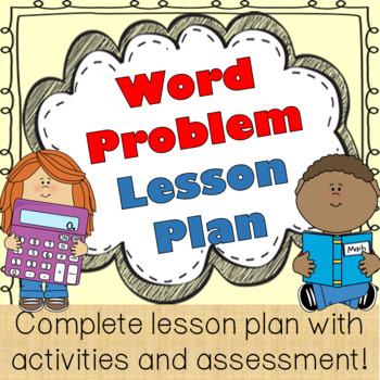 Story/Word Problems, Math Lesson Plan, using cognitively guided instruction