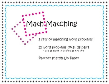 Word Problem Math Match
