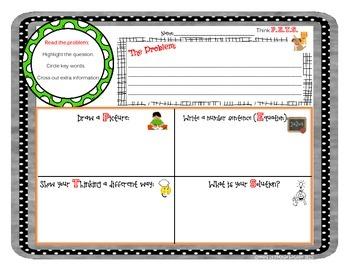 Word Problem Math Organizer mat
