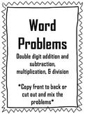 Word Problem Mini-Pack