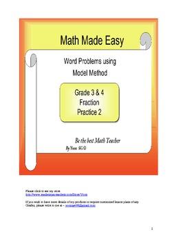 Word Problem Model Method for Grade 3 & 4 - Fraction 2