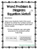 Word Problem, Number Sentence and Diagram Match Cards