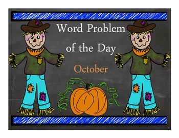 Word Problem Of The Day- October
