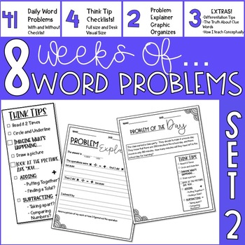Word Problem Of The Day- Set 2- 3rd Grade