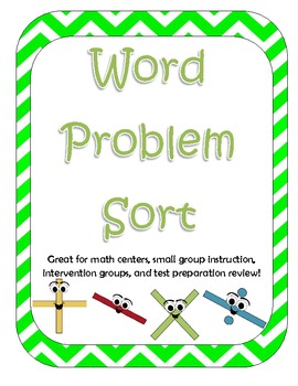 Word Problem Operation Sort