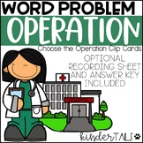 Word Problem Operations Clip Cards